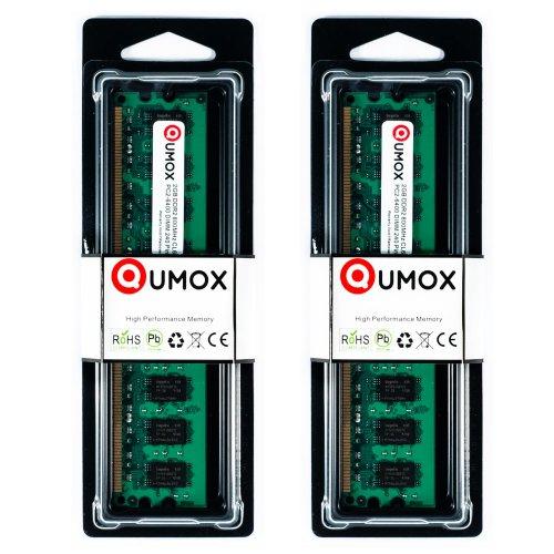 QUMOX Memoria DIMM para computadora Desktop 4GB(2X 2GB) DDR2