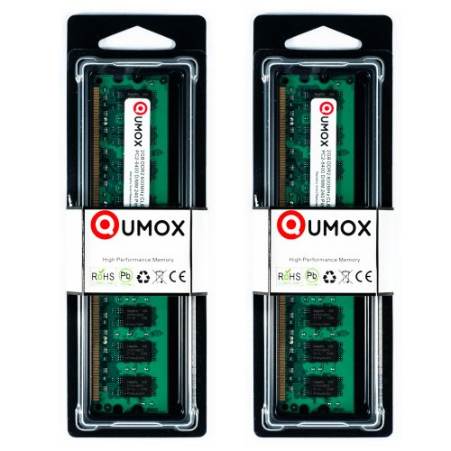 QUMOX 4GB(2X 2GB) DDR2 800MHz PC2-6300 PC2-6400 DDR2 800 (240 Pin) 2 GB DIMM Desktop Memoria