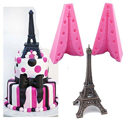Eiffelturm-Silikonform, 3D-handgemachte-Seifen-Form, für Kuchen, Schokolade, Zuckerguss, Backwerkzeug