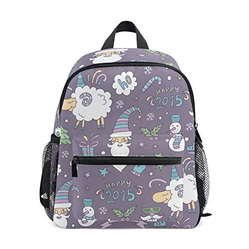 Kinderrucksack Weihnachten Schaf Kindergarten Vorschule Tasche für Kleinkind Mädchen Jungen