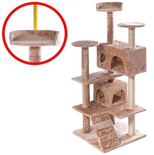 M&G Techno XL Kratzbaum Katzenkratzbaum Katzenbaum Natur SISAL PLÜSCH Kletterbaum Katzen mit Spiel und Kuschelmöglichkeiten