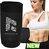 ROSERAIN Waist Trainer for Weight Loss,Waist Trimmer,Sweat Band Sweat Belt for Women & Men,Stomach Wraps Belly Fat Burner,Sauna Abdominal Girdle,Slimming Body Shaper