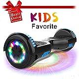 """CITYSPORTS 6.5"""" Elektro Skateboard Board mit Bluetooth Hover Lautsprecher LED-Leuchten für Kinder und Erwachsene"""