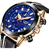 LIGE Mens Watches Chronograph Waterproof...