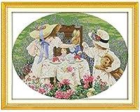 大人のためのDIY5Dダイヤモンドペインティングフルキット、女の子のキャンプ、家の壁の装飾ギフトのためのラウンドドリルフルダイヤモンドナンバークリスタル刺繡アート16x20インチ