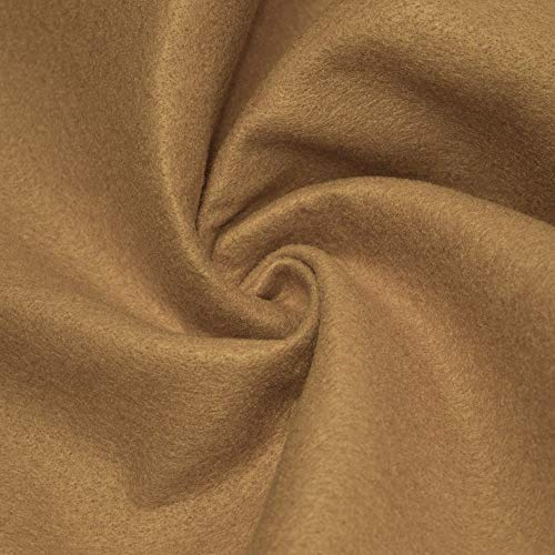 "AK TRADING CO. 72-Inch Wide 1/16"" Thick Acrylic Felt Fabric for Arts & Crafts, Cushion and Padding, Sewing Projects, Kids School Projects, DIY Projects & More. - Light Camel, 1 Yard"