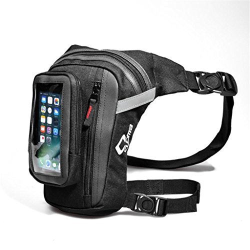 Motorcycle Drop Leg Pouch Multi-purpose Bag Oxford Drop Leg Bag Motorcycle Thigh Bag Touch Screen Phone Bag for Outdoor Hiking Cycling Working