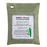 GBB Eliminador De Olores De Carbón Vegetal Desodorante De Carbón Activado De Bambú Desodorante Natural Elimina Los Olores Y El Eliminador De Humedad 5 Piezas Verde