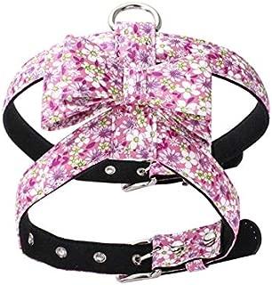 Ajustable Dog Harness Leash Set Pet Anti-Explosion Bow Knot Vest Chest Belt Dog Walking Chest Collar Security Vest Dog