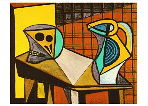 """Kunstkarte Pablo Picasso""""Stilleben mit Schädel und Tonkrug"""""""