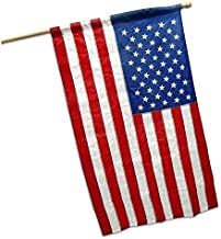 G128 - American USA US Flag 2.5x4 Ft Pole Sleeve Banner Style Embroidered Stars Sewn Stripes Pole Sleeve (Flag Pole is NOT...