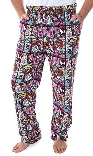 Marvel Men's Carnage Comic Book Allover Detailed Design Sleep Lounge Pajama Pants (X-Large)