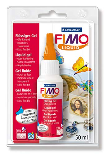 Staedtler- FIMO Liquid 8050 Gel Decorativo, Color Transparente (8050-00 BK)