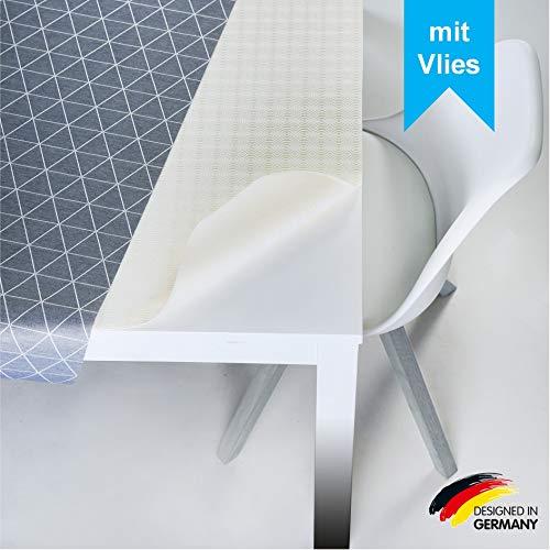 LILENO HOME Molton tafelkussen als tafelkleed in wit (140 x 190 cm) - waterdichte en anti-slip tafelonderlegger als ideale bescherming voor tafel - onderlegger vierkant voor alle tafelkleden
