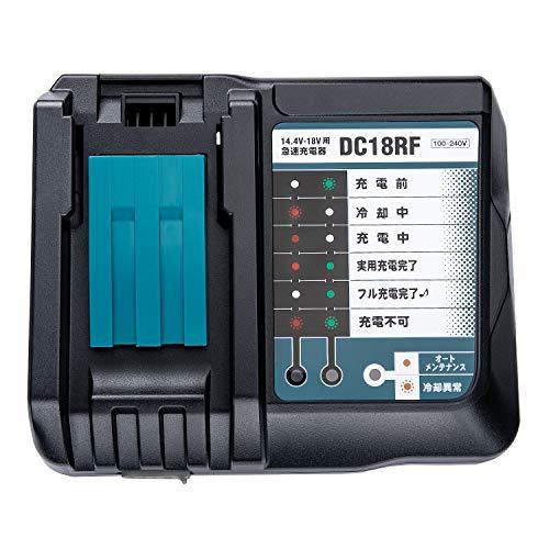 WaxPar DC18RC DC18RF 互換充電器 14.4V 18V マキタ 電動工具バッテリー用 BL1430 BL1440 BL1450 BL1460 BL1830 BL1840 BL1850 BL1860 BL1430b BL1460b BL18