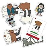 Popfunk We Bare Bears Cartoon Network Collectible Stickers with Ice Bear, Grizzly and Panda