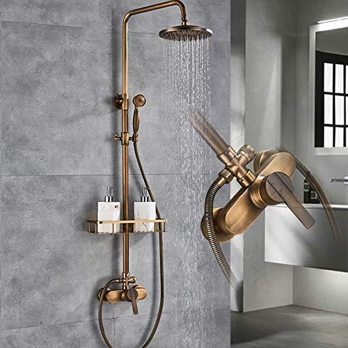 Conjunto de ducha antiguo de ducha de lluvia con sistema de ducha y sistema de ducha completo para cuarto de baño