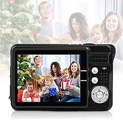 Digitalkamera 1080HD Foto Kamera Digital 2,7 Zoll 18 MP Mini Digital Kamera mit 8X Digitalzoom Fotoapparat Digitalkamera Geschenk Kompaktkameras für Kinder Erwachsene Studenten Anfänger(Schwarz)