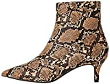find. Kitten Heel Point Toe Animal Botines, Marrón Natural Snake, 39 EU