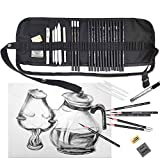 YLX Set de lápices de dibujo para artistas Sketching Pencils Art set with Sketch Paper Zipper Bag (24PCS)