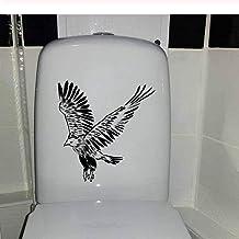 20X23Cm Águila Volando En Tinta Pintura Arte Mural Decoración Del Hogar Asiento De Inodoro Etiqueta De La Pared