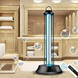 GJQION UVsterilisation Lampe mit Smart-Remote-Timing-Funktion, UV-Desinfektion keimtötenden Licht, Birnen, für Auto-Haushalt Schlafzimmer Toilette Küche,60W