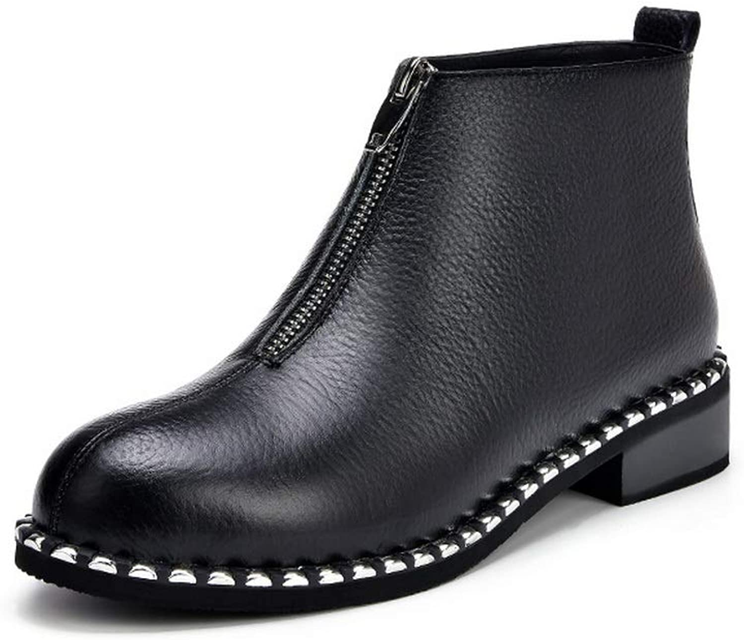 AdeeSu Womens Hounds-Tooth Fabric Boots Leather Boots SXE04913