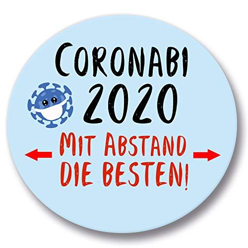 Polarkind Button Pin Anstecker Geschenk Abitur Coronabi 2020 Mit Abstand die besten 38mm Abi (CoronABI)