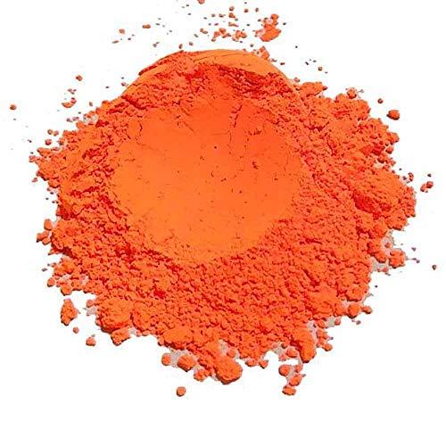 Fluorescent neon Powder, Blacklight Pigment for Water Based Paints, Holi Powder, neon Projects (Orange UV)
