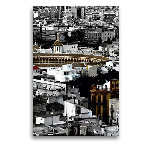 CALVENDO Lienzo Premium de 50 cm x 75 cm de Alto, maestranza Trofeo de toros, Sevilla, Imagen sobre Bastidor, Imagen premontada en Lienzo auténtico, impresión en Lienzo (calvento Lugar)