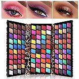 UCANBE - Paleta de sombras de ojos de 120 colores, alta pigmentación mate y brillante, paleta de maquillaje metálica, colorida, con forma de billetera de leopardo, sombra de ojos brillantes y desnudos