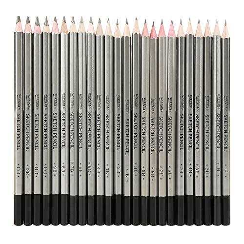 スケッチ用鉛筆 24個 デッサン鉛筆セット 鉛筆スケッチ 描画用鉛筆 素描鉛筆 美術鉛筆 美術 絵画用品 子供や大人も適用な絵具 スケッチ 鉛筆