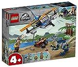 LEGO JurassicWorld Velociraptor:SalvataggioinBiplano, Giocattoli per Bimbi Ispirati ai Dinosauri, 75942