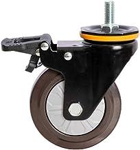 Casters Schroef rubberen universele wielrem tandwielschroef - voetmachinewielschijf-high-performance wiel 4 stuks