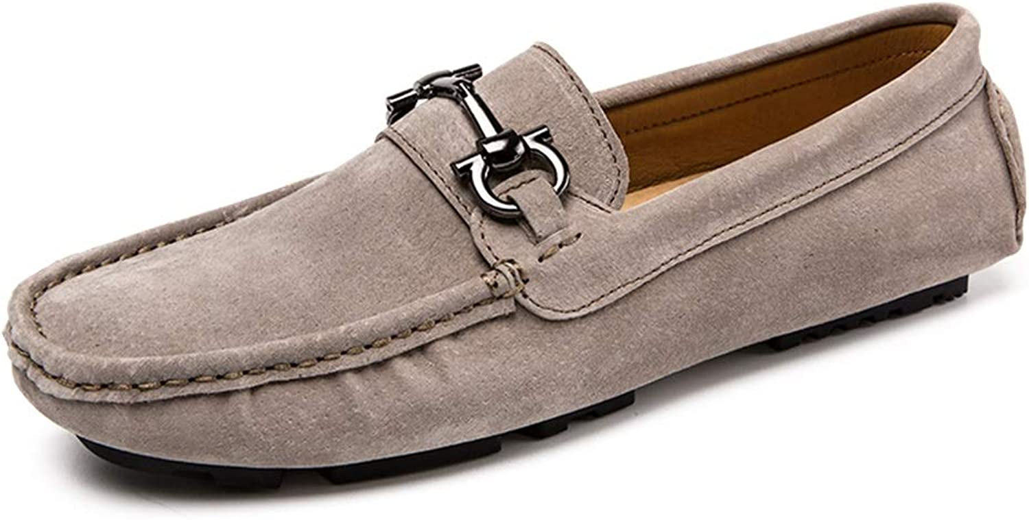 Leather Penny Loafers for Men Slip on Style Suede Leather Flat Driving Moccasins Boat shoes Vamp shoes