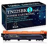 1 Pack Black TN225BK Toner Cartridge Replacement for Brother HL-3140CW HL-3150CDN HL-3170CDW HL-3180CDW MFC-9130CW MFC-9140CDN MFC-9330CDW MFC-9340CDW DCP-9015CDW DCP-9020CDN Printers Toner Cartridge