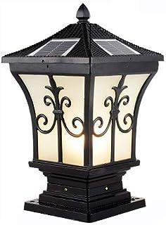 SEESEE.U Solar Pillar Light Outdoor Waterproof Gate Pillar Light Villa Garden Light Outdoor Wall Light Energy Saving Decor...