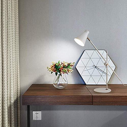 GLYYR Lámpara de Escritorio Dormitorio nórdico Junto a la Cama Dormitorio Moderno y Sencillo Estudio hogar Hierro protección para los Ojos lámpara de Mesa