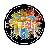 ZXHH Schlagzeugteppich Drum-Teppich rutschfeste Trommel Teppiche Runder Trommelteppich Schallschutzdecke Für Bass Drum Snare elektronische Trommel Stoßdämpfer verdickt Trommelstock rutschfest