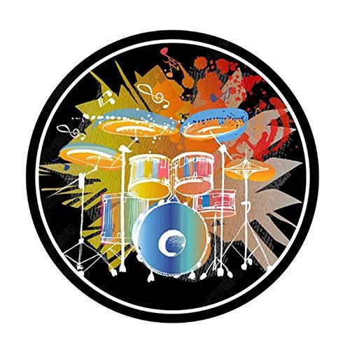 ZXHH Tapis Antidérapants Rond pour Tapis De Batterie Tapis De Tambour De Protection Tapis Insonorisé pour Kits De Batterie électronique Grosse Caisse Caisse Claire Et Autres Jeux De Bases