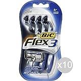 Set 10 BIC 3 Flex X 4 Rasierer Gesicht und Körper