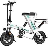 Bicicleta electrica, Bicicleta eléctrica plegable para adultos, bicicleta eléctrica de 12 pulgadas / de viaje ebike con motor 240W, batería de litio recargable de 48V 8-20H, 3 modos de trabajo Batería