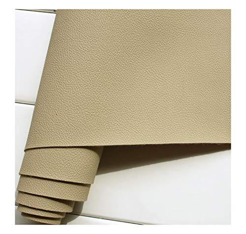 wangk Tela Cuero sintético Vinilo Paño de Cuero Material de Tela 137cm Tela De Cuero Sintético PU Tela De Piel Sintética Venta De Polipiel Polipiel para tapizar, Manualidades -Khaki 5 1.38x7m