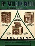 Blechschild Poster Vulcain Radio 1930s französischen A4 12