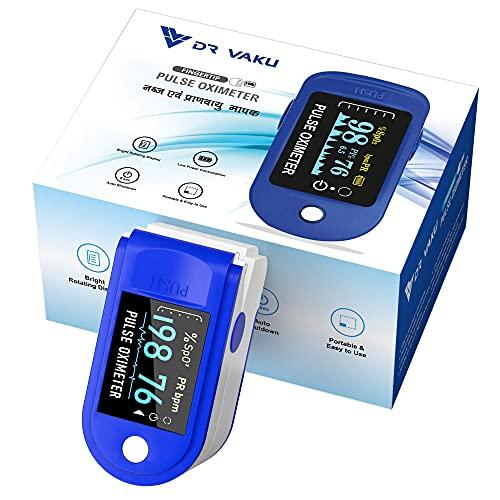 DR VAKU® Swadesi Pulse Oximeter Fingertip, Blood Oxygen Saturation Monitor Fingertip, Blood Oxygen Meter Finger Oximeter Finger with Pulse, O2 Monitor Finger for Oxygen