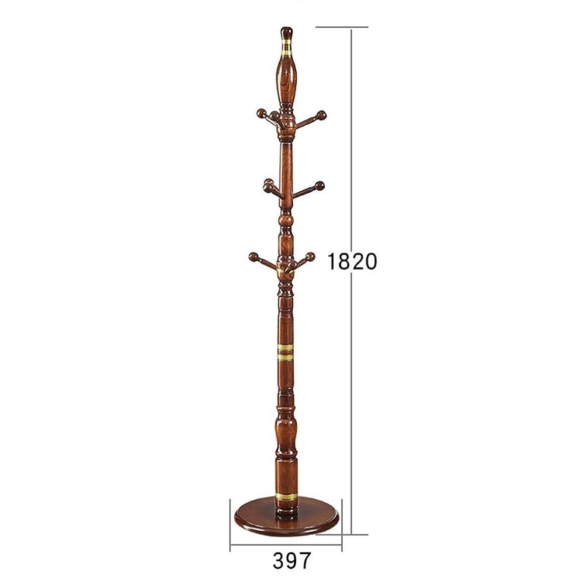 建築プログレッシブかき混ぜるハンガー, シンプルなレトロディストレストコートラックに着陸する無垢材の大胆なアセンブリ TINGTING-ハンガーラック (Color : Honey, Size : 39.7*182cm)
