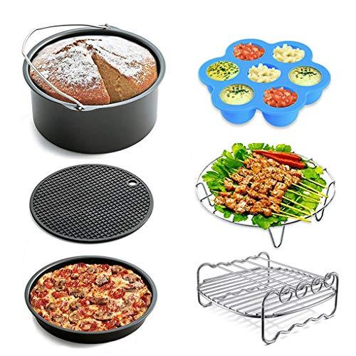 Tapusen Accessori per friggitrice ad aria, compatibile con tutte le marche Friggitrice ad aria, 5.3 QT, 5.8QT, set di 6