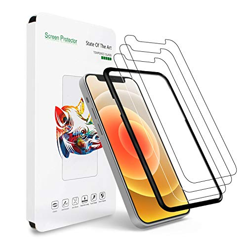 Sevrok 3pcs Screen Protector Tempered Glass and 1pcs Easy Installation Tray Compatible with iPhone 12 Pro/iPhone 12 6.1-inch, Bubble Free, Case Friendly, Clear