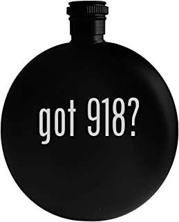got 918? - 5oz Round Alcohol Drinking Flask, Black