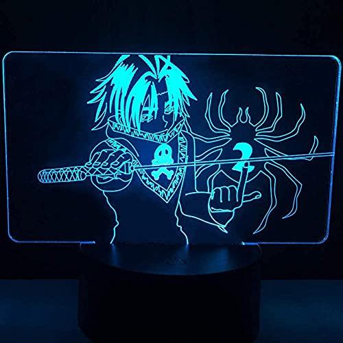 Luz nocturna LED 3D Illusion I Geschenkshop Feitan lámpara de mesa HXH regalo acrílico Feitan para la decoración de la habitación de los niños, cumpleaños, vacaciones, regalos